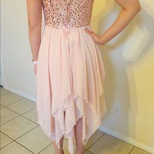 Delia's Blush Pink Strapless Party Dress